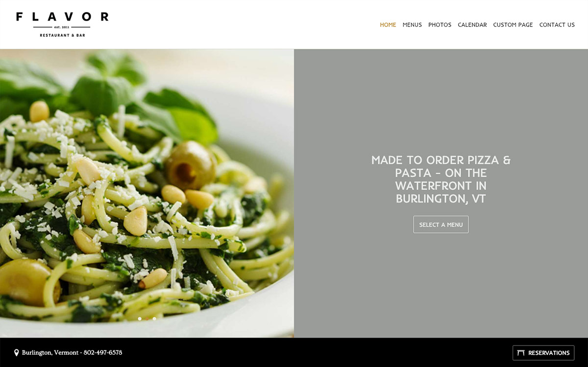 Mise En Place template screenshot